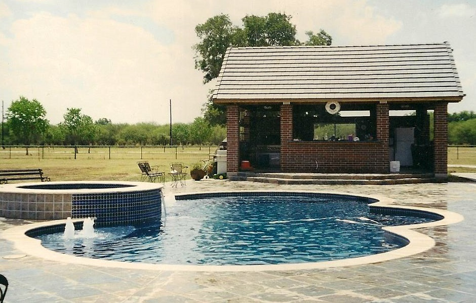 In Ground Custom Pool Conroe Texas